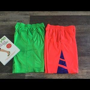 Bundle Lot 2 Boys sport shorts Under Armor Adidas